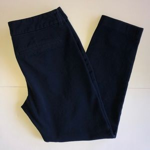 Old Navy Pixie Dark Blue Mid-Rise Pants
